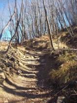 L'ultimo tratto di sentiero prima del Cippo del Monte Fuso